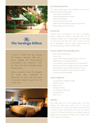 A sense of warmth and ease pervadesThe Saratoga, a handsome lodge with