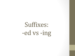 Suffixes: PowerPoint PPT Presentation