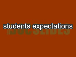 students expectations