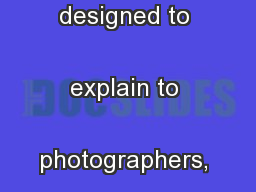 This Tax Fact Sheet is designed to explain to photographers, photo  ..