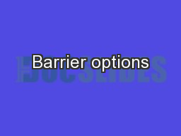Barrier options PowerPoint PPT Presentation