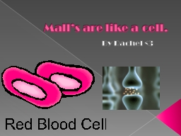 Mall's are like a cell. PowerPoint PPT Presentation