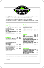 Half and full sized portions of our most popular menu items. Perfect f