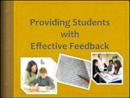 Providing Students with
