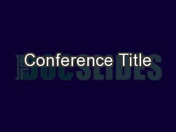 Conference Title