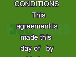 ELITE CELLULAR ACCESSORIES CONSIGNMENT AGREEMENT GENERAL TERMS  CONDITIONS   This agreement is made this  day of   by and between Elite Cellular Accessories and located at The terms of this agree