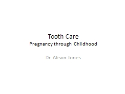 Tooth Care PowerPoint PPT Presentation