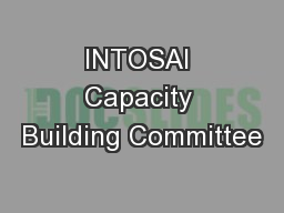 INTOSAI Capacity Building Committee