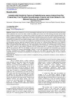 Journal of Applied Medical Sciences