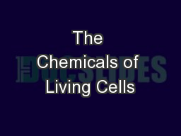 The Chemicals of Living Cells