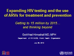 Expanding HIV testing and the use