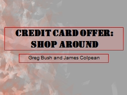 Credit Card Offer PowerPoint PPT Presentation