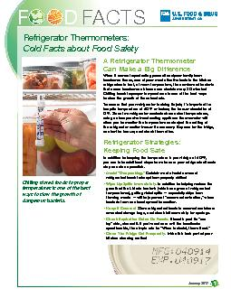 Refrigerator Thermometers:Cold Facts about Food Safety