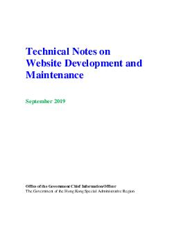Technical Notes on Website Development and Maintenance