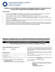 State Of Rhode Island Division Of Motor Vehicles Pdf