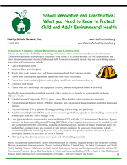 Hazards to Children During Renovation and Construction attendance and