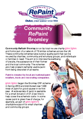 Bromley is run by local re-use charity and forms part of a network of