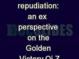 Damages for repudiation: an ex  perspective on the Golden Victory Qi Z