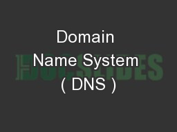Domain Name System ( DNS )