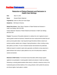 Reduction of Patient Restraint and Seclusion in PowerPoint PPT Presentation