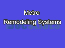 Metro Remodeling Systems