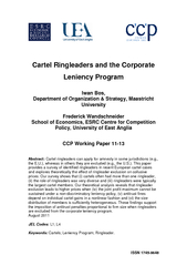 Cartel Ringleaders and the Corporate