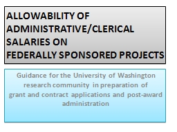 ALLOWABILITY OF ADMINISTRATIVE/CLERICAL SALARIES ON PowerPoint PPT Presentation