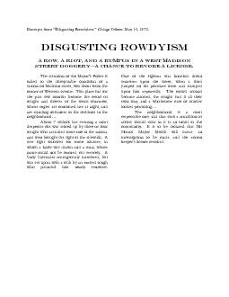 """from """"Disgusting Rowdyism."""""""