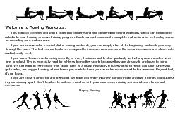 Welcome to Rowing Workouts.through the book. The first few workouts ar