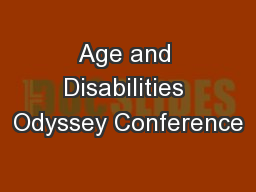 Age and Disabilities Odyssey Conference