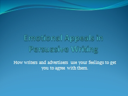 Emotional Appeals in
