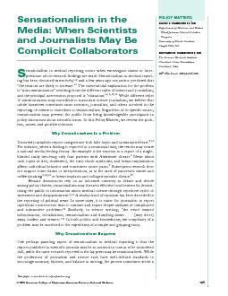 fair, and balanced, the cases of sensationalized reportingsibility or