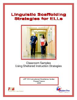 Classroom Samples Using Sheltered Instruction Strategies