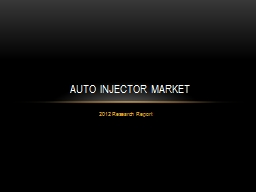 2012 Research Report