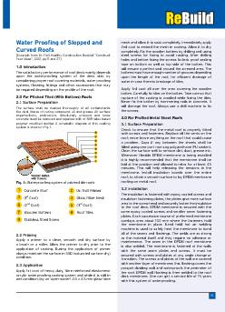 Water Proofing of Slopped and Curved Roofs[Excerpts from Dr. Fixit Hea