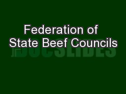 Federation of State Beef Councils