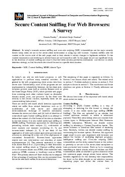 International Journal of Advanced Research in Computer and Communicati