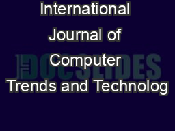 International Journal of Computer Trends and Technolog