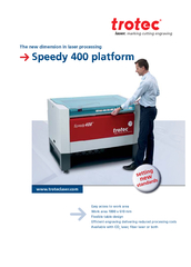 The new dimension in laser processingWork area 1000 x 610 mmEfficient