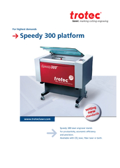 Speedy 300 laser engraver stands for productivity, economic efficiency