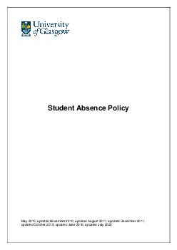 Student Absence Policy May   updated November   updated August   updated Decembe PDF document - DocSlides