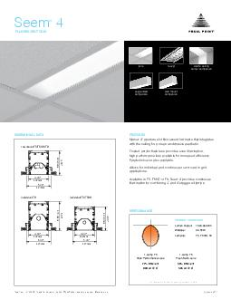FLUORESCENT GRID PRODUCT OVERVIEW FEATURES DIMENSIONAL DATA PERFORMANCE lens louver individual T individual TTHO ro w mount TTHOT