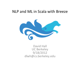 NLP and ML in