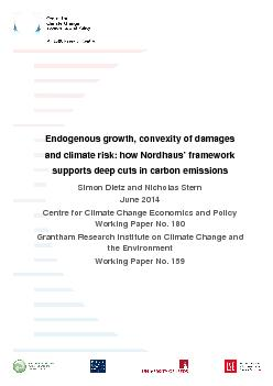 Endogenous growth, convexity of damages and climate risk: how Nordhaus