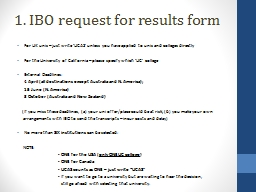 1. IBO request for results form