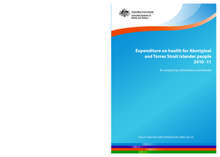 HEALT AND WELFARE EXPENDITURE SERIES O. 49Expenditure on health for Ab