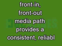 Advanced front-in, front-out media path provides a consistent, reliabl PowerPoint PPT Presentation