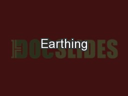 Earthing PowerPoint PPT Presentation