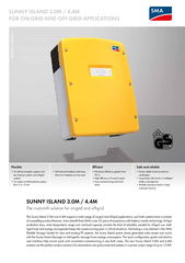 SUNNY ISLAND 3.0M / 4.4M  FOR ON-GRID AND OFF-GRID APPLICATIONSFlexibl