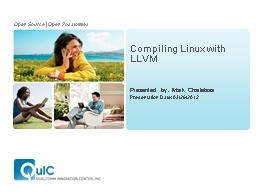 Compiling Linux with